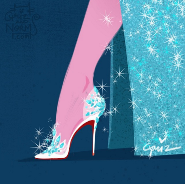 Elsa in Christian Louboutin