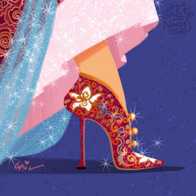 Mulan in Manolo Blahnik