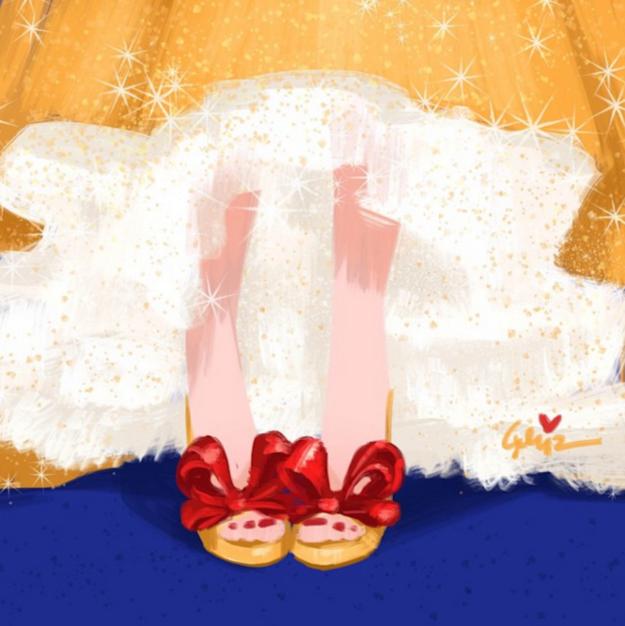 Snow White in Valentino